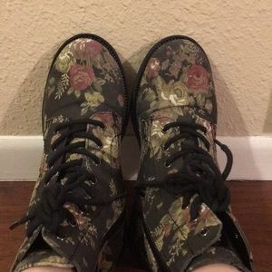 G by Guess Shoes - G by Guess floral combat boots